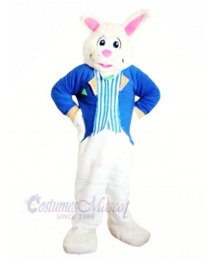 Blue Bunny with suit Mascot Costumes Animal