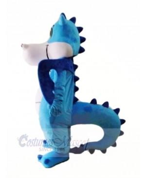 Cute Blue Dinosaur Mascot Costumes Animal