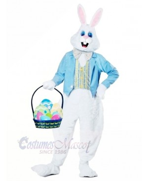 Blue Easter Bunny Adult Mascot Costumes Animal
