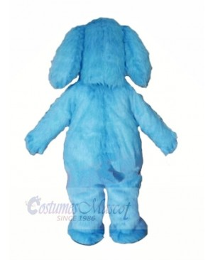 Blue Furry Dog Mascot Costumes Animal