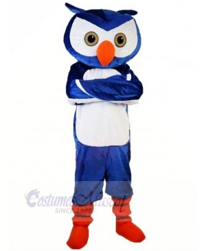 Blue Owl with Orange shoes Mascot Costumes Animal
