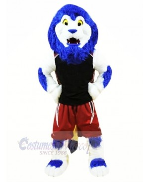 Blue Sport Lion Mascot Costumes Animal