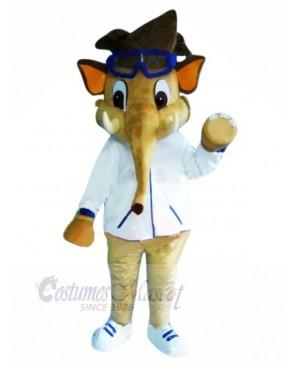 Boy Elephant with Glasses Mascot Costumes Animal