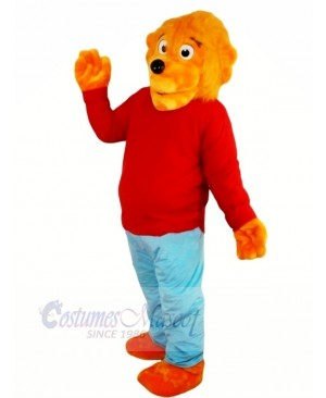 Funny Lion with Red Sweater Mascot Costumes Animal