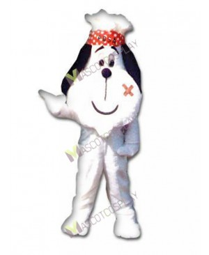 High Quality Adult British Red Cross Dog White Dog Mascot Costume