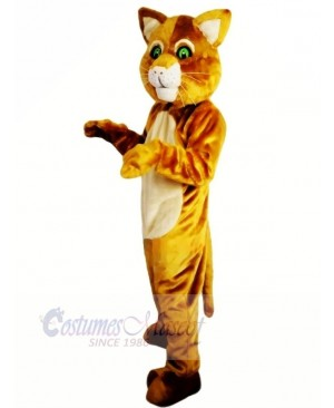 Brown Cat with Green Eyes Mascot Costumes Animal