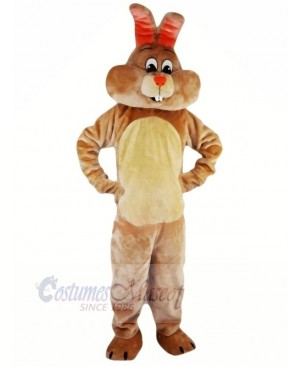 Brown Rabbit with Red Nose Mascot Costumes Animal
