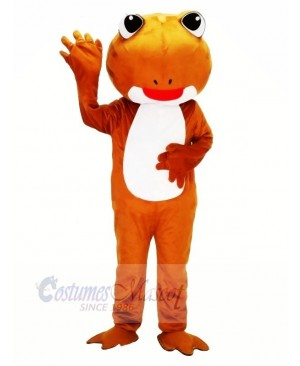 Brown Frog with Big Eyes Mascot Costumes Animal