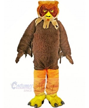 Brown Furry Owl Adult Mascot Costumes Animal