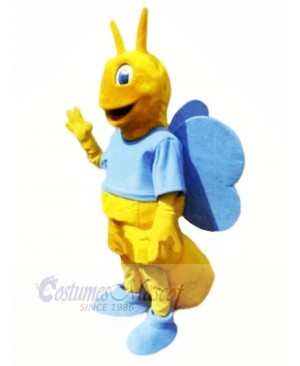 Butterfly with Blue Wings Mascot Costumes Animal