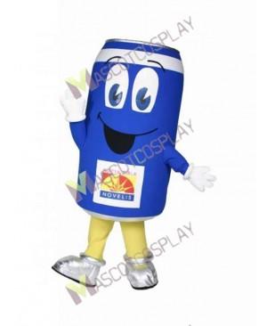 High Quality Adult Blue Can Man Mascot Costume