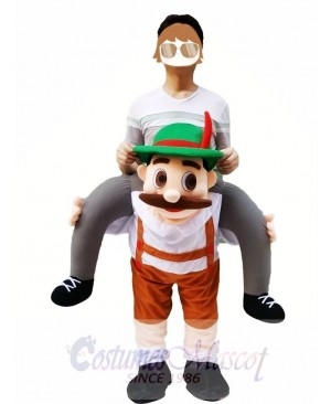 Piggy Back Shoulder Bavarian Oktoberfest Beer Guy Carry Me Ride Mascot Costume