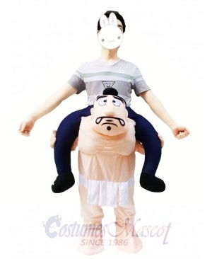 Carry Me Japanese Sumo Wrestling Costume Wrestler Piggy Back Mascot Costume