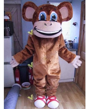 High Quality Adult Cheeky Monkey Mascot Costume