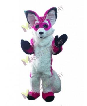 Pink and White Chihuahua Luxury Fox Dog Mascot Costume