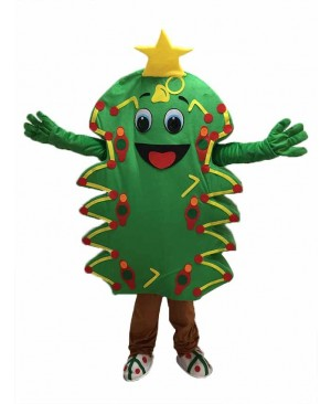 Green Christmas Tree Adult Mascot Costume