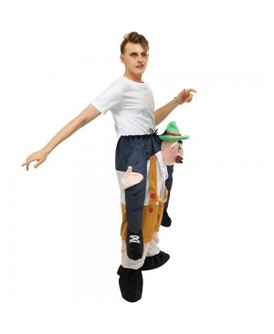 Bavarian Oktoberfest Beer Man Carry me Ride on Halloween Christmas Costume for Adult/Kid
