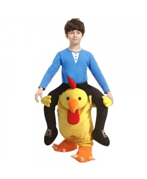 Yellow Chicken Carry me Ride on Halloween Christmas Costume for Adult/Kid