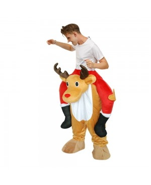 Elk Deer Carry me Ride on Halloween Christmas Costume for Adult