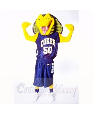 Sports Yellow Cobra Snake Mascot Costumes Cartoon
