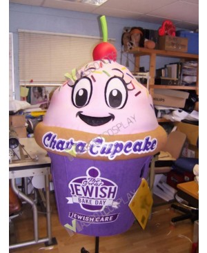 High Quality Adult Cupcake for Jewish Bake Day Mascot Costume
