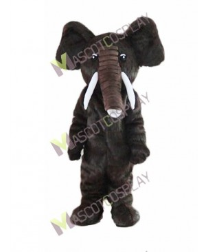 High Quality Adult Dark Brown Elephant Mascot Costume