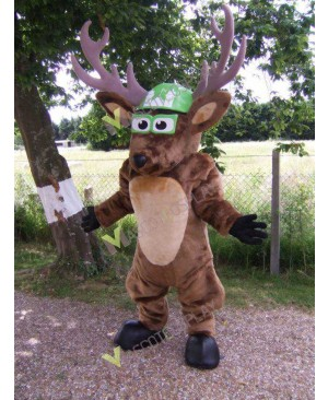 High Quality Adult Brown Deer Mascot Costume