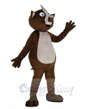 Brown Wombat Mascot Costume Animal