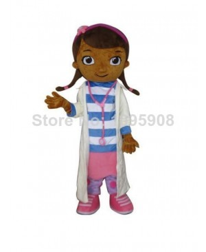 Doc McStuffins Mascot Costume Doctor Dottie Adult Party Halloween Carnival Mascot Costume