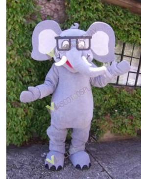 High Quality Adult Gray Ellie the Elephant Mascot Costume