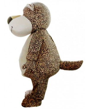 Cute Cartoon Leopard Bear Mascot Costume