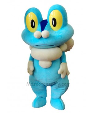 Blue Frog Froakie Mascot Costume Pokemon Pokémon GO Pocket Monster