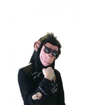 Hairy Latex Chimpanzee Gorilla Head Mask Full Head Animal Mask Cosplay Masquerade