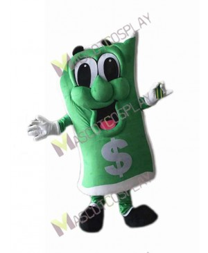 High Quality Adult Green Dollar Bill Mascot Costume