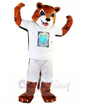 High School Energetic Tiger Mascot Costume