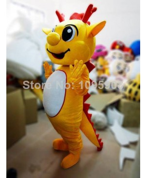High Quality Dragon Mascot Costume Cute Mascot Costume Adult Party Carnival Halloween Christmas Mascot Free Shipping