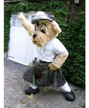High Quality Adult Scotland Taxi Driver Dog Mascot Costume