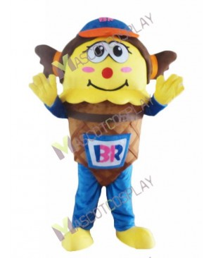 Hot Sale Adorable Ice Cream Smile Boy Mascot Costume