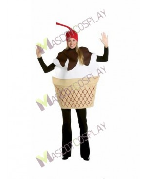 High Quality Adult Ice Cream Sundae Mascot Costume