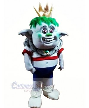 Trolls King Mascot Costumes Cartoon