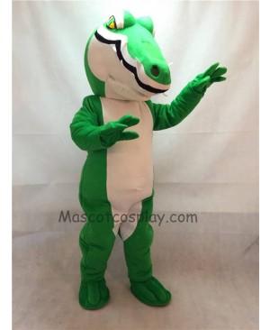 Fierce Green Crocodile Mascot Costume