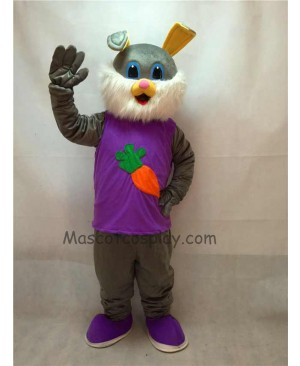 Cute Easter Bunny Rabbit Plush Adult Mascot Costume
