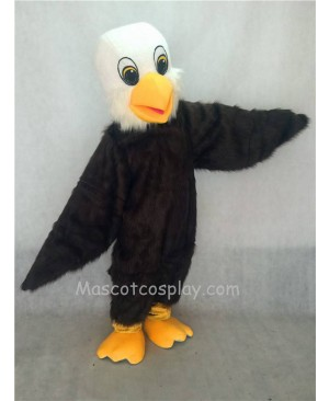 Hot Sale Adorable Realistic New Hairy Brown Baby Bald Eagle Mascot Costume