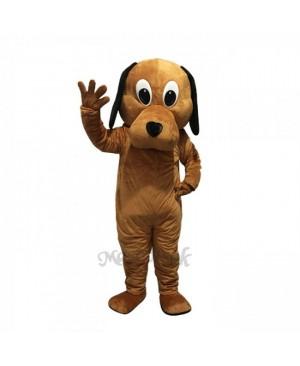New Tan Dog Black Ears Costume Mascot