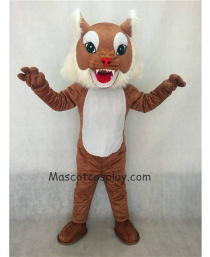 Hot Sale Adorable Realistic New Brown Wildcat Cat Mascot Costume