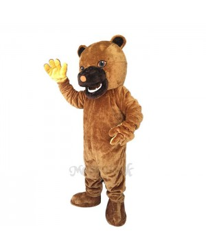 New Snarling Bear Black Mouth Mascot Costume