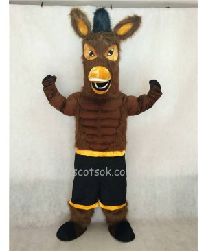Hot Sale Adorable Realistic New Black Jack Brown Mule Mascot Character Costume Fancy Dress Outfit