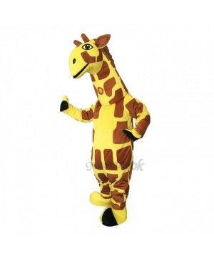 Cute Funny Yellow Giraffe Mascot Costume