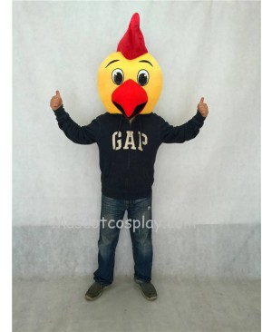 Hot Sale Adorable Realistic New Chicken Yodel Mascot Costume Head ONLY
