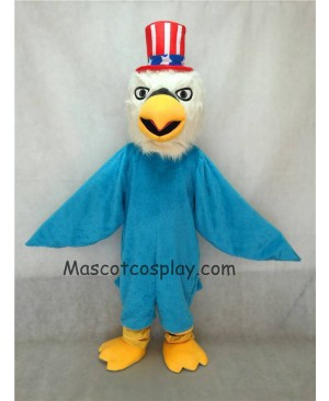 Hot Sale Adorable Realistic New Blue Patriotic Eagle Mascot Costume with Hat